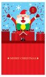 Julhälsningar med Santa Claus Royaltyfri Foto