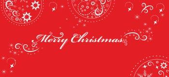 Julhälsningar på röd bakgrund. Vektor Royaltyfri Bild