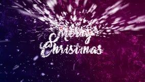 Julhälsningar som göras av snö/flingor lager videofilmer