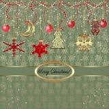 Julhälsningkort Arkivfoton