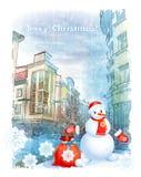 Julhälsningkort Royaltyfria Foton