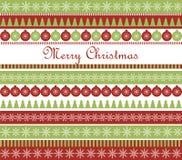 Julhälsningkort Arkivbilder