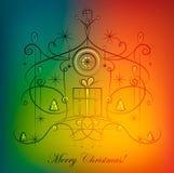 Julhälsningkort. Arkivfoton
