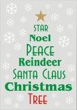 Julhälsningkort eller baner Arkivbild