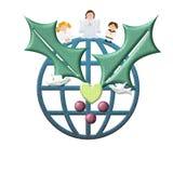 Julhälsningkort, fred i världen Arkivfoton
