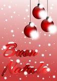 Julhälsningkort i italienare stock illustrationer