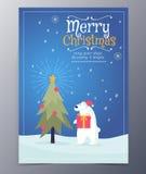 Julhälsningkort med glad jul som märker, vektor royaltyfri illustrationer