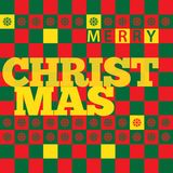 Julhälsningkort med rektangelfärg Arkivfoton