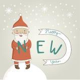 Julhälsningkort med Santa Claus Fotografering för Bildbyråer