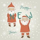 Julhälsningkort med Santa Claus Arkivfoton