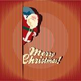 Julhälsningkort. Santa Claus. Royaltyfri Fotografi