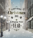 Julhälsningskort Royaltyfri Bild