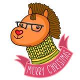 Julhäst. Ferieillustration Fotografering för Bildbyråer