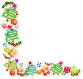 Julhörngräns vektor illustrationer
