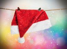 Julhatt Santa Claus Arkivbild