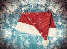Julhatt Santa Claus Fotografering för Bildbyråer
