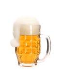 Julhatten i öl rånar. royaltyfri fotografi