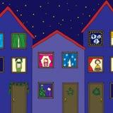 julhelgdagsafton royaltyfri illustrationer