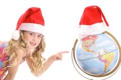 julhelgdagsaftonen här sänder s santa Arkivbild