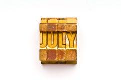 Julho Fotos de Stock Royalty Free