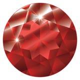 Julho Birthstone - rubi ilustração royalty free