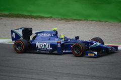 Julià ¡ n Leal 2014 GP2 Monza serii Zdjęcia Royalty Free