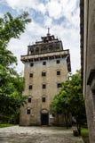 """Juli 2017 †""""Kaiping, Kina - Tianlulou torn i den Kaiping Diaolou Maxianglong byn, nära Guangzhou arkivbilder"""