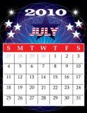 Juli 2010 vector illustratie