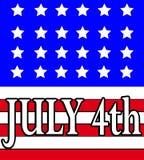Juli 4th 3 Arkivbilder
