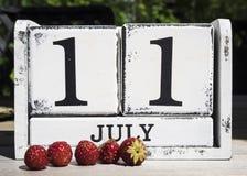 11 juli Stock Afbeelding