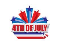 Juli 4 Lizenzfreie Abbildung