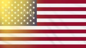 Juli 4. auf Hintergrund des Wellenartig bewegens von US-Flagge, Schleife lizenzfreie abbildung
