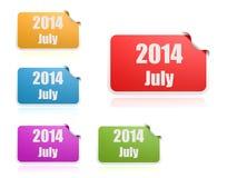 Juli av 2014 Arkivfoton
