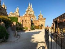22 Juli 2017 - ` Benalmadena, Cadiz, Spanien för `-Colomares slott Arkivfoto