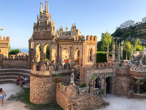 22 Juli 2017 - ` Benalmadena, Cadiz, Spanien för `-Colomares slott Royaltyfria Bilder