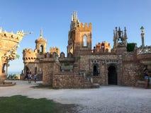 22 Juli 2017 - ` Benalmadena, Cadiz, Spanien för `-Colomares slott Royaltyfri Bild