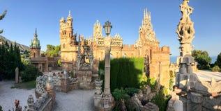 22 Juli 2017 - ` Benalmadena, Cadiz, Spanien för `-Colomares slott Fotografering för Bildbyråer