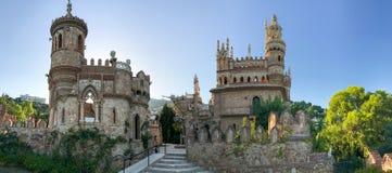 22 Juli 2017 - ` Benalmadena, Cadiz, Spanien för `-Colomares slott Arkivbild
