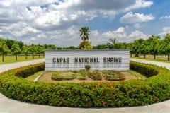 1,2017 juli bij het Nationale Heiligdom van Capas, Capas, Filippijnen Royalty-vrije Stock Foto