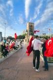 15. Juli Coup-Versuchs-Proteste in Istanbul Lizenzfreies Stockfoto