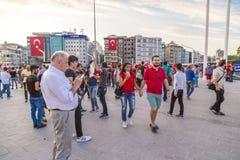15. Juli Coup-Versuchs-Proteste in Istanbul Stockbilder