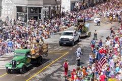 4 juli, 2018 - de Jaarlijkse Parade van de Onafhankelijkheidsdag, Telluride, Kleur royalty-vrije stock fotografie