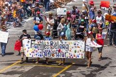 4 juli, 2018 - de Jaarlijkse Parade van de Onafhankelijkheidsdag, Telluride, Kleur stock afbeelding