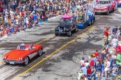 4 juli, 2018 - de Jaarlijkse Parade van de Onafhankelijkheidsdag, Telluride, Kleur stock afbeeldingen