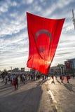 15 juli de Protesten van de Staatsgreeppoging in Istanboel Royalty-vrije Stock Foto