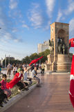 15 juli de Protesten van de Staatsgreeppoging in Istanboel Stock Foto