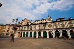 6 juli, 2013 De stad van Italië van Brescia Oude Europese stad van Brescia in het gebied van Lombardije in de zomer stock afbeelding