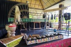 15,2017 juli de traditionele instrumenten van Filippijnen bij de villa S Stock Afbeelding