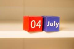 Juli 4., der US-Unabhängigkeitstag, Platz zu annoncieren, amerikanische Feiertage Stockfotografie