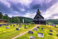 18 juli, 2015: Eidsborg Stave Church, Noorwegen Stock Foto